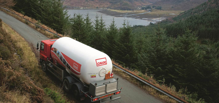 Calor tanker on the road