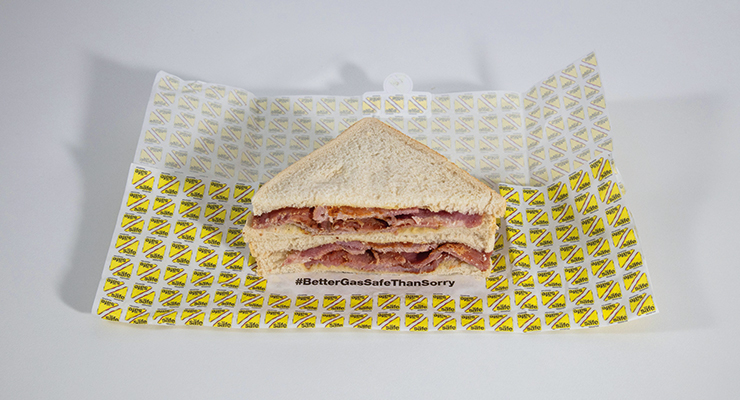 An image of a Bacon sandwich