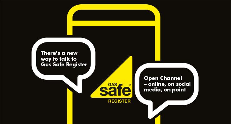 An illustration of Gas Safe Register's Open Channel offering