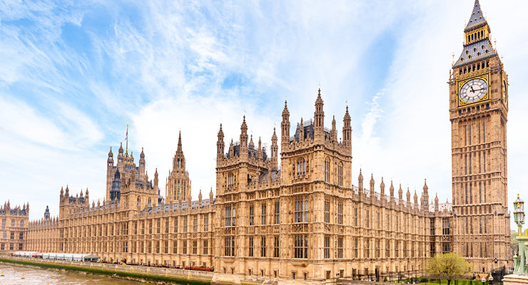 An image of the Houses of Parliament in London