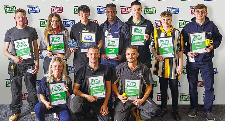 A group of the UK's Top Trade Apprentices for 2020