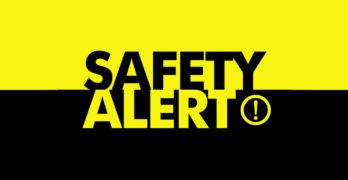 Safety Alert Banner image