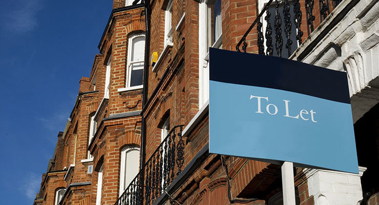 A decorative image of a property with a To Let Sign outside