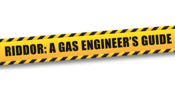 A decorative image that reads 'Riddor: A Gas Engineer's Guide'