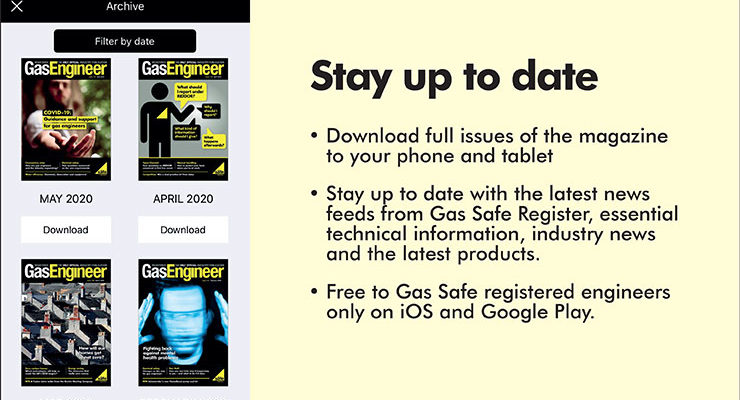 An image directing engineers to the RGE magazine online edition