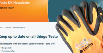 Image showing details of Testo's new UK newsletter