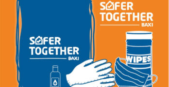 Illustration from Baxi showing their Safer Together COVID campaign