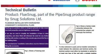 Worcester Bosch Technical Bulletin image of FlueSnug