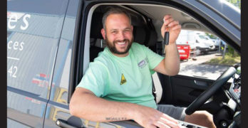 The engineer who won a new van from Wolseley