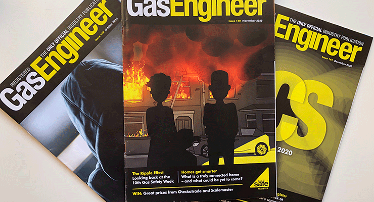 Image of copies of Registered Gas Engineer magazine