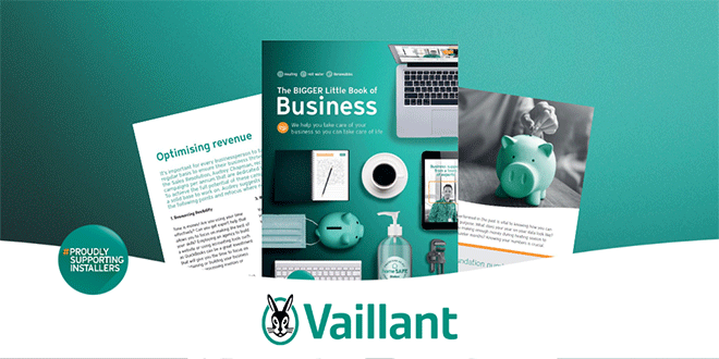 Inside pages to view of Vaillant Business support book