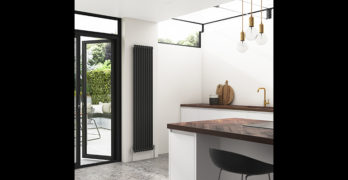 Stelrad vertical radiator in home