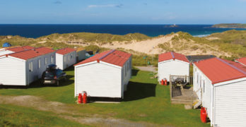 Picture of caravan park by the sea