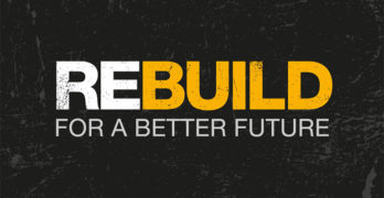 Logo stating Rebuild for a Better Future