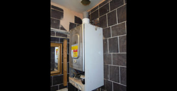 Boiler with unattached flue