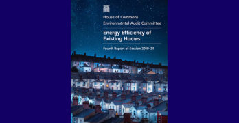 Cover image of Energy Efficiency of existing homes report