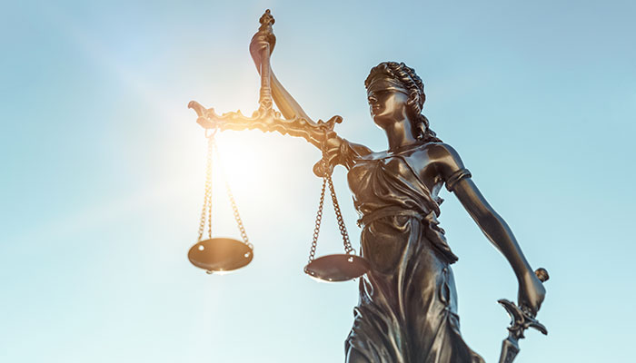 Lady Liberty and Scales of Justice