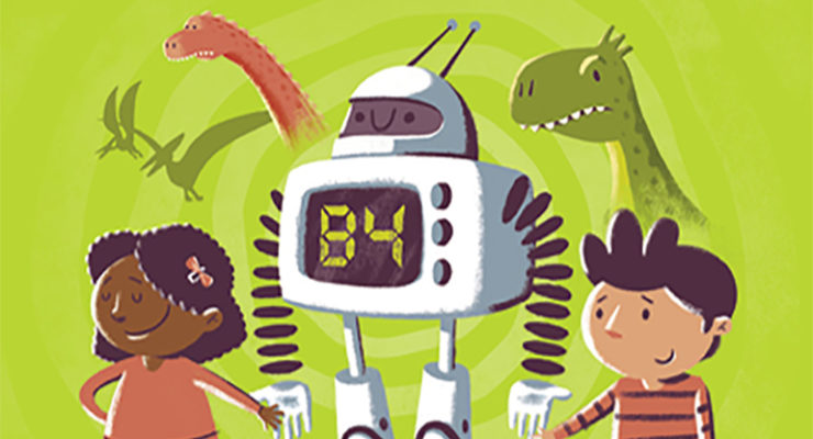 Book cover illustration of A Robot Called B4
