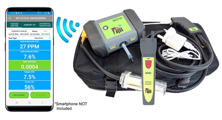 Image of TPI DC710C2 flue gas analyser kit